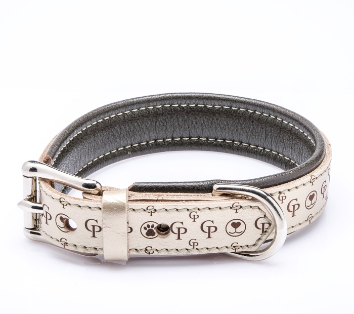 La passione CP Hundehalsband breite 2cm gepolstert der Marke Cane Pazzolo Made in Germany